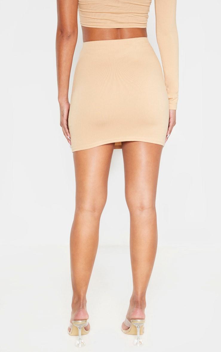 Biscuit Cotton Mini Skirt 4