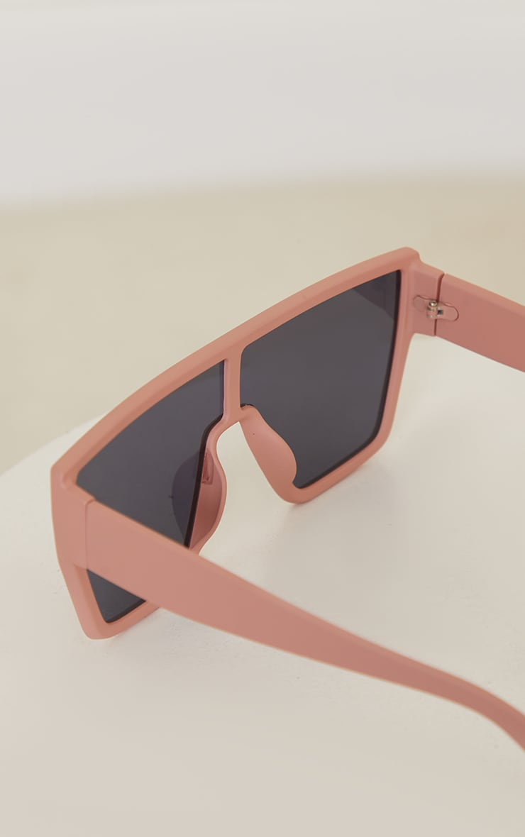 Clay Matte Oversized Squareframe Sunglasses 3