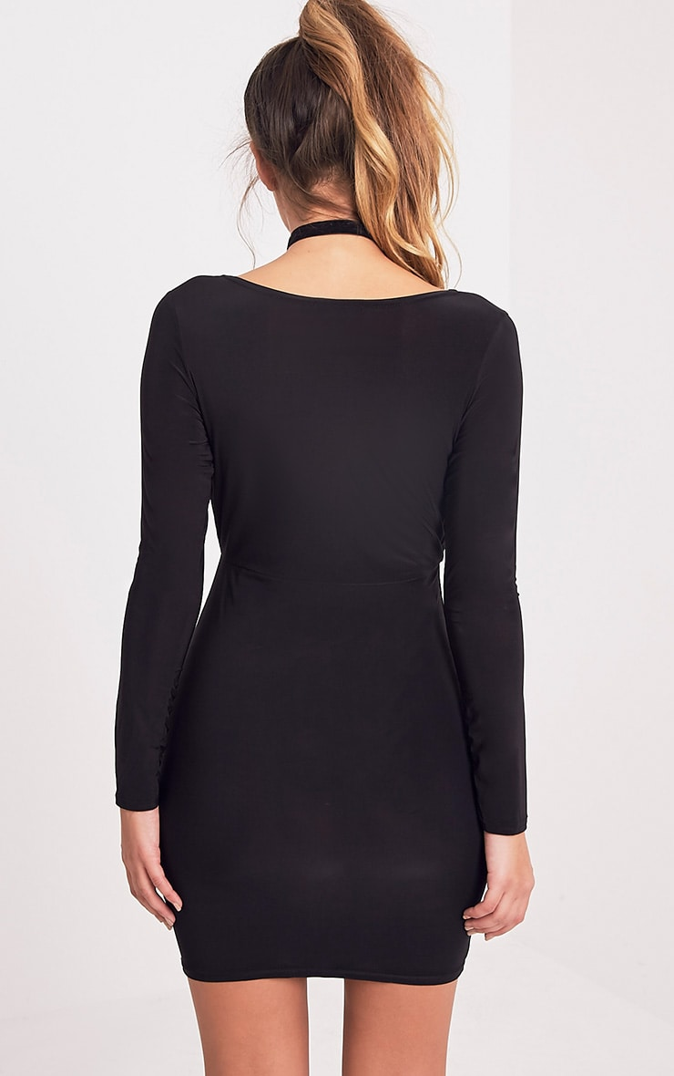 Brylie Black Cross Front Mini Dress 2