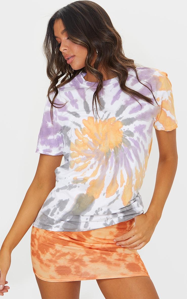 Multi Tie Dye Boyfriend T Shirt 3