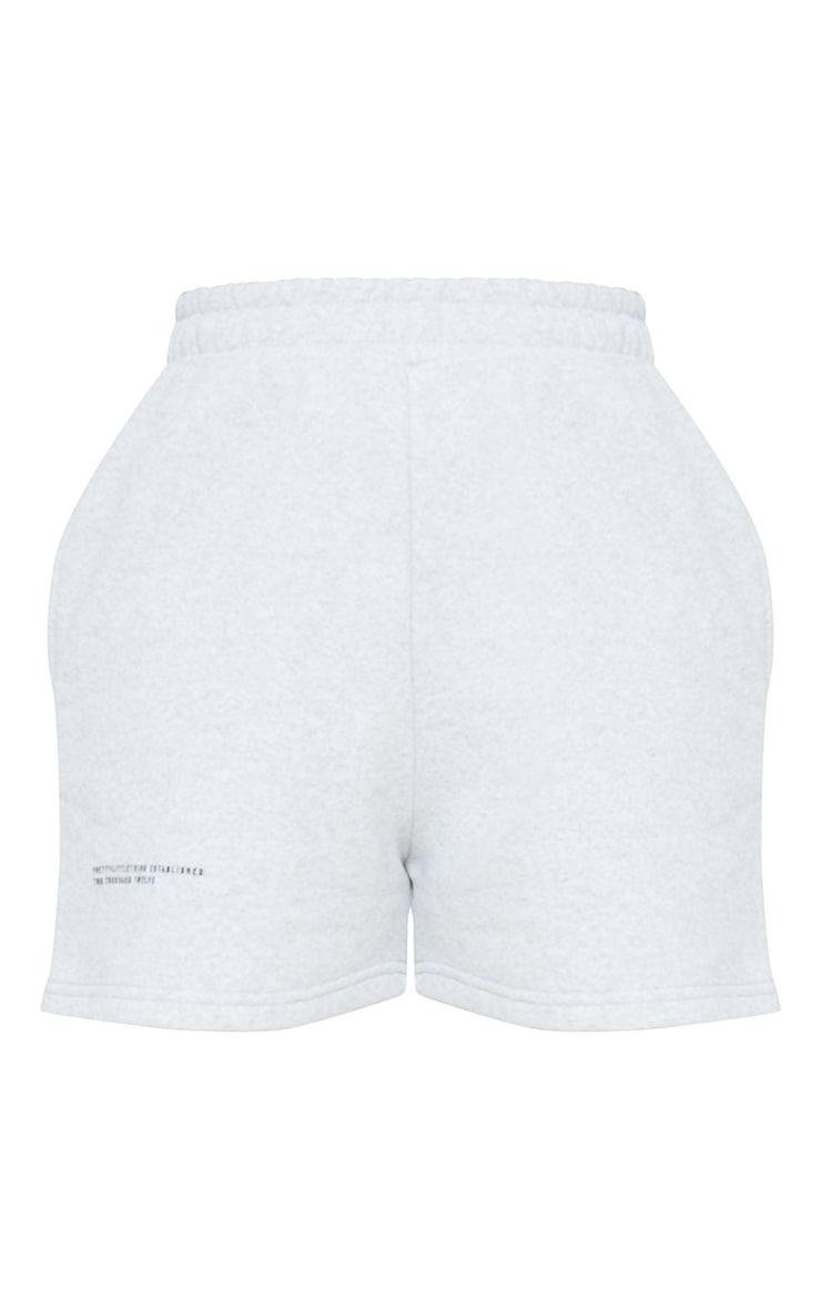 PRETTYLITTLETHING Grey Marl Sweat Pocket Shorts 6