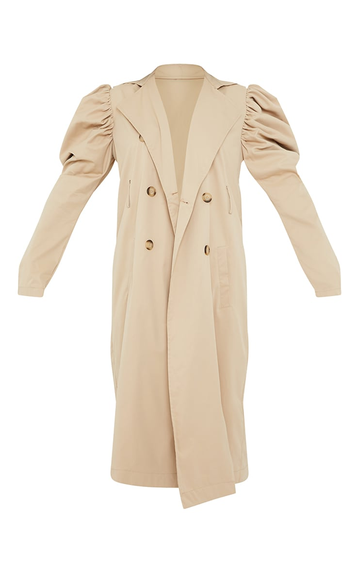 Stone Balloon Sleeve Belted Midi Trench 5