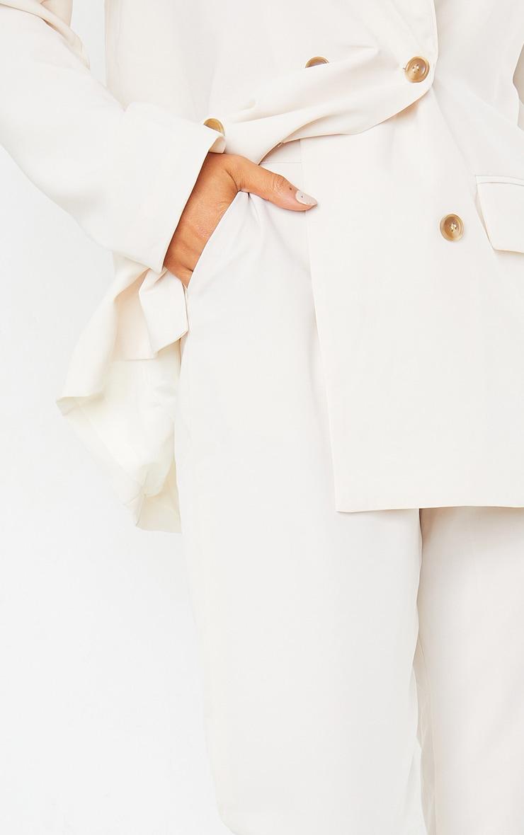 Pantalon à pinces crème 5