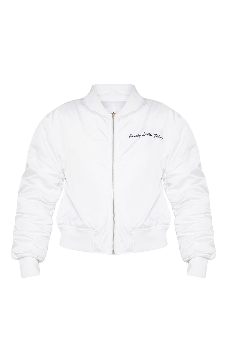 PRETTYLITTLETHING White Oversized Jacket 5