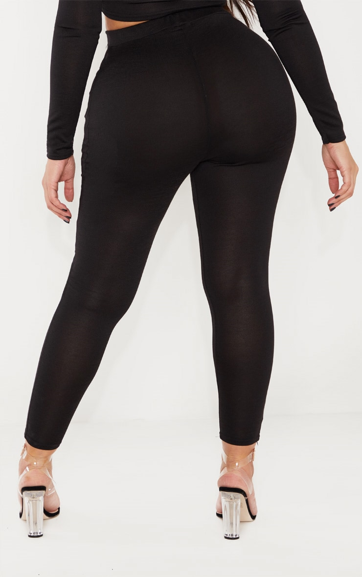 Shape Black Jersey Leggings 4