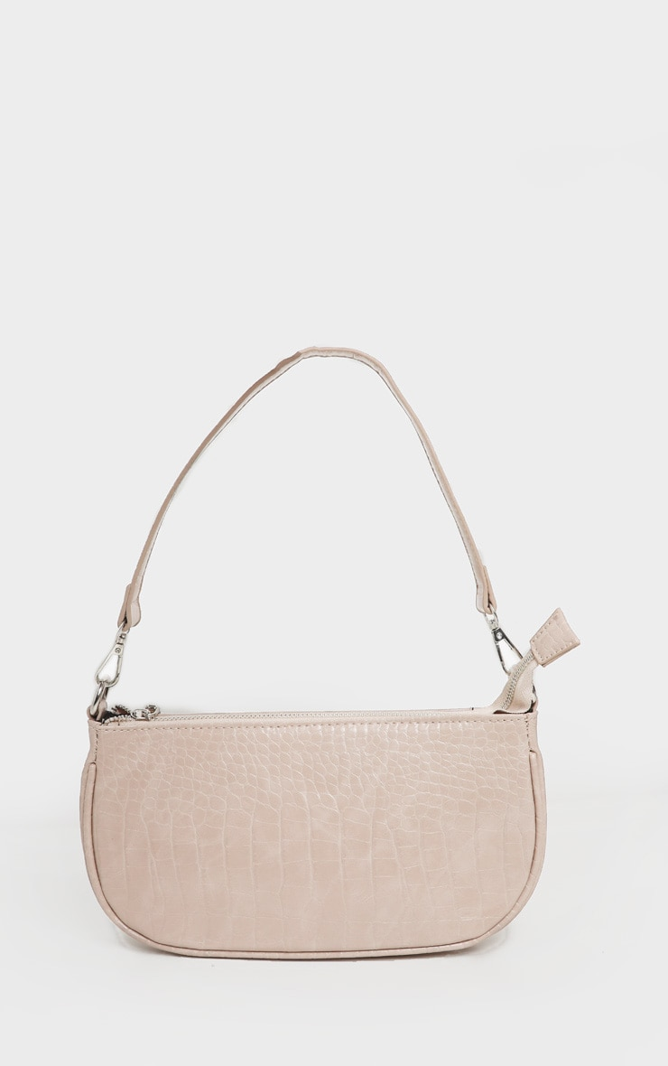 Nude Croc 90s Shoulder Bag 3