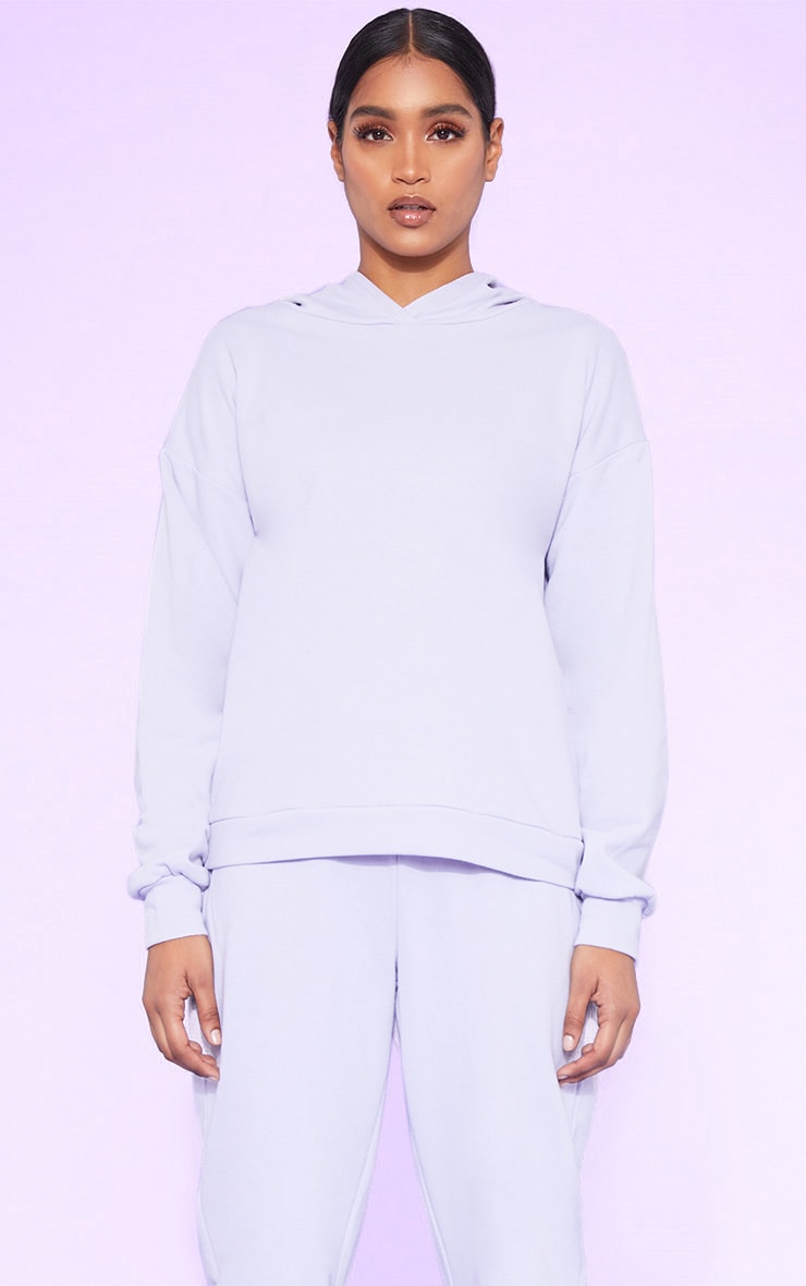 RECYCLED Pale Violet Oversized Hoodie 1