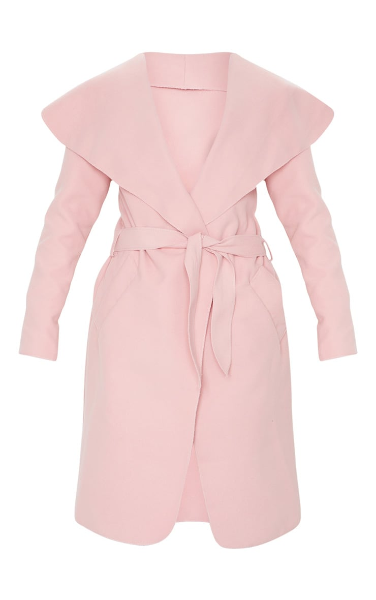 Veronica Dusty Pink Oversized Waterfall Belt Coat 5