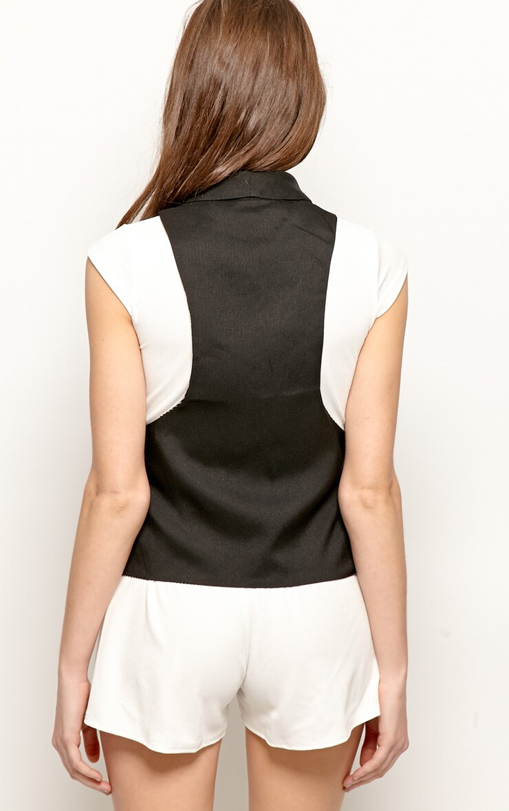 Andrej Black Tuxedo Waist Jacket 2