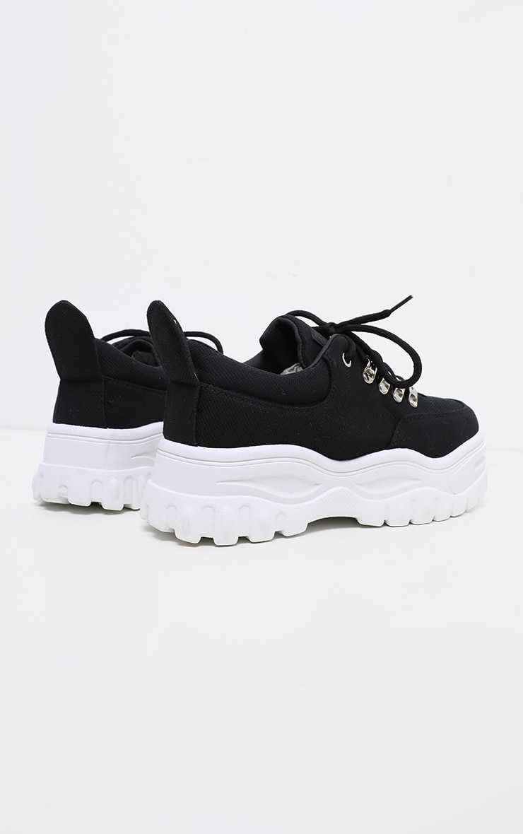 Black Flatform Chunky Hiker Trainer 4