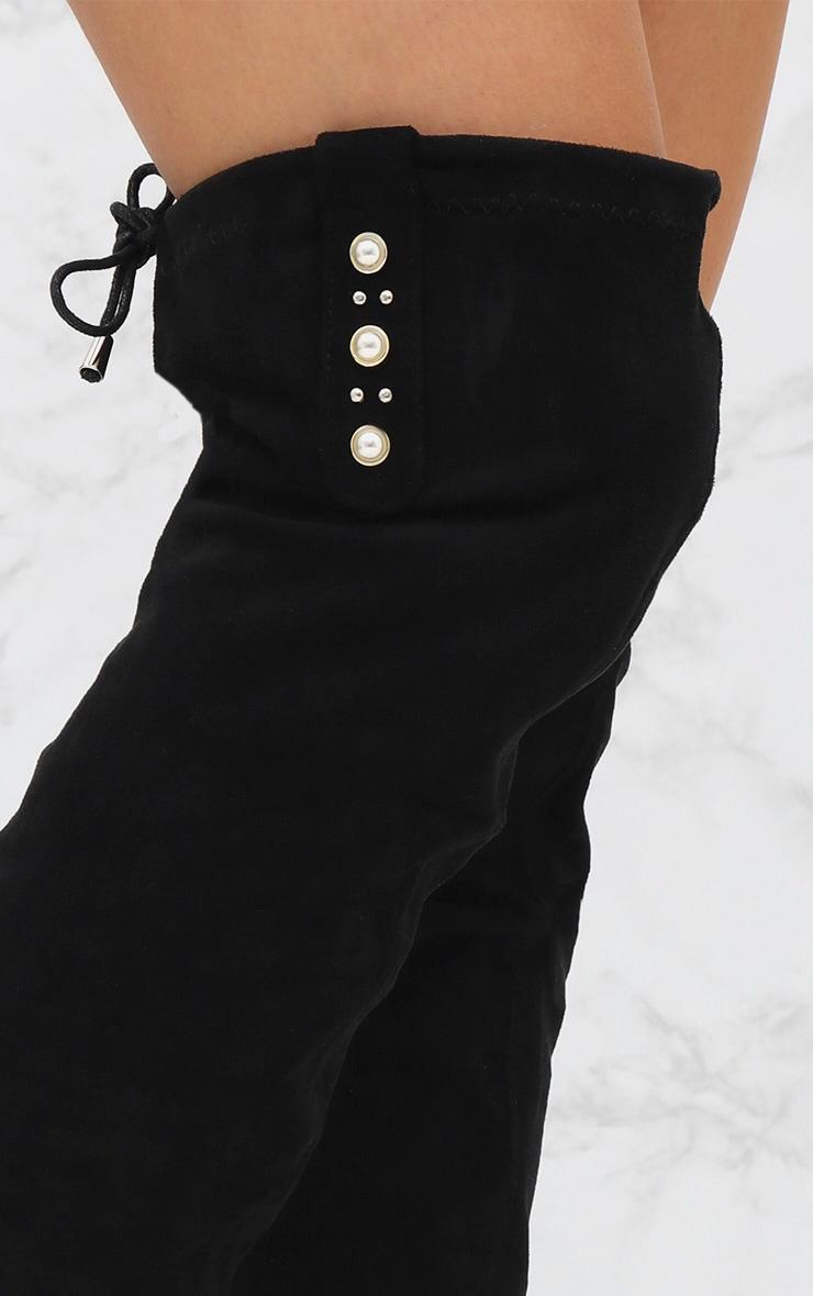 Black Pearl Heel Thigh Boot 5