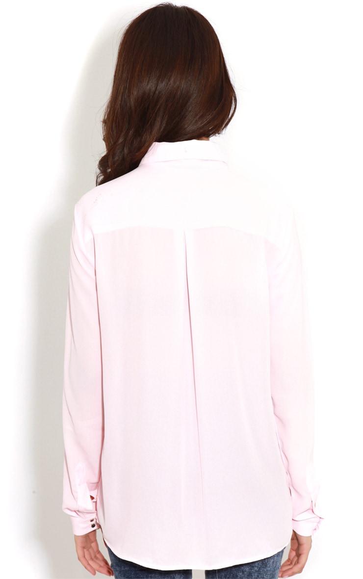 Eboni Pink Chiffon Shirt 2