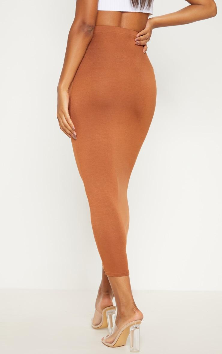 Tan Basic Maxi Skirt 4
