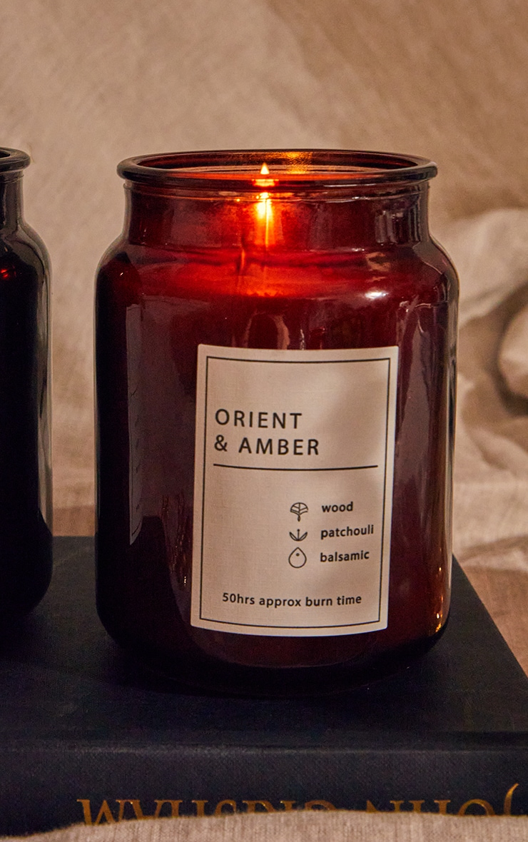 Orient & Amber Scented Glass Jar Candle 2