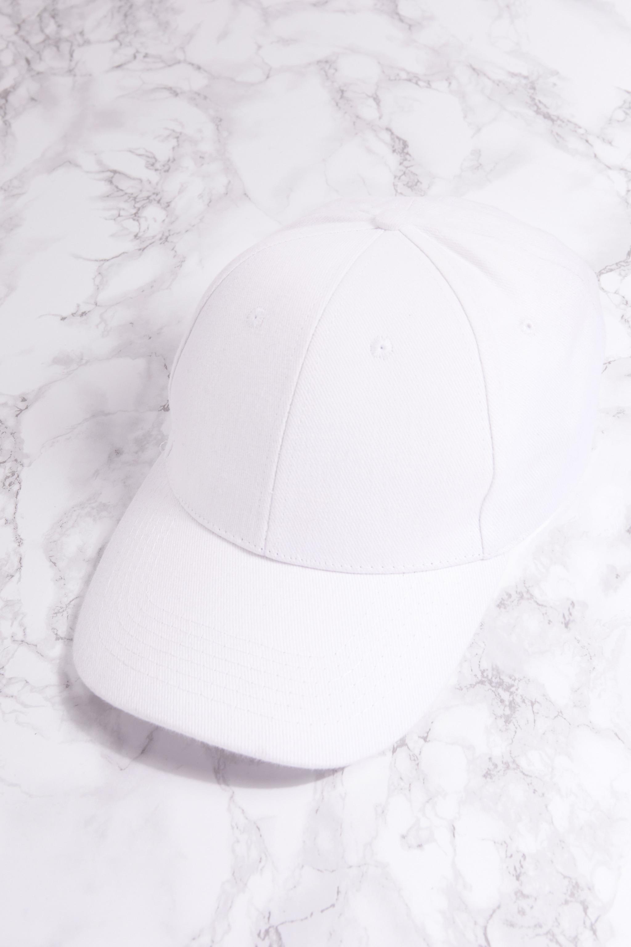 White Woven Baseball Cap 5