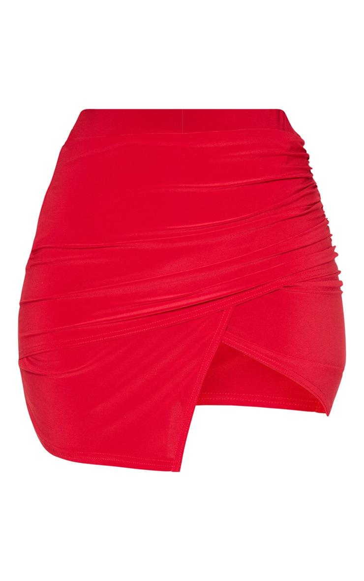 Scarlet Drape Detail Split Mini Skirt  3