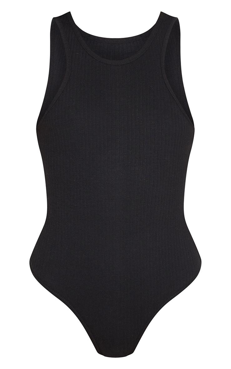 Black Rib Racer Bodysuit 5