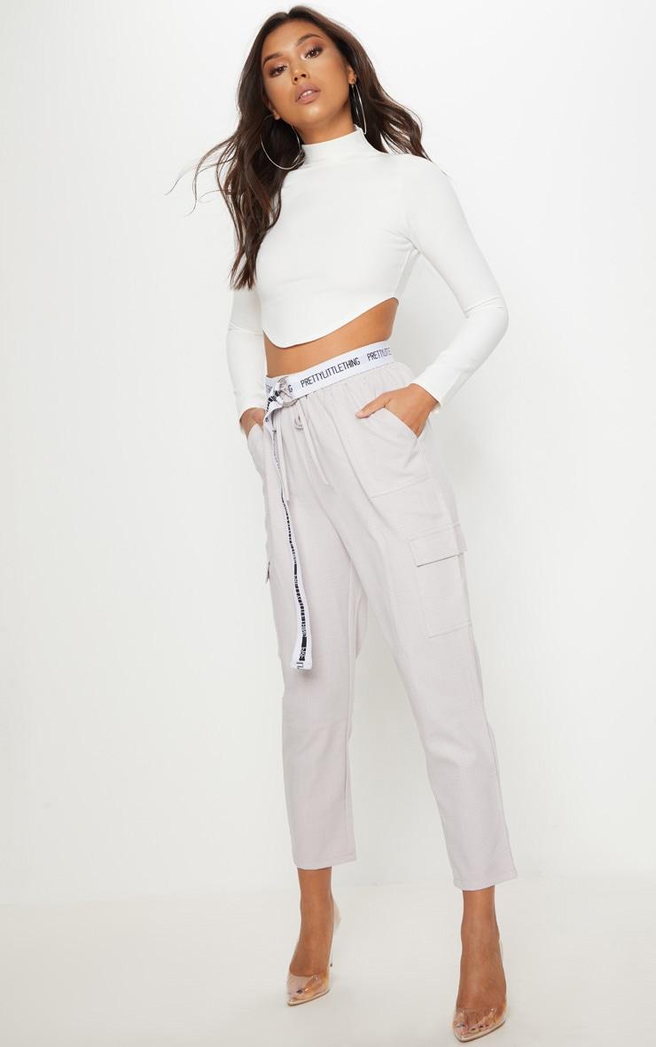 Grey Diya Cargo Pocket Casual Trouser 1