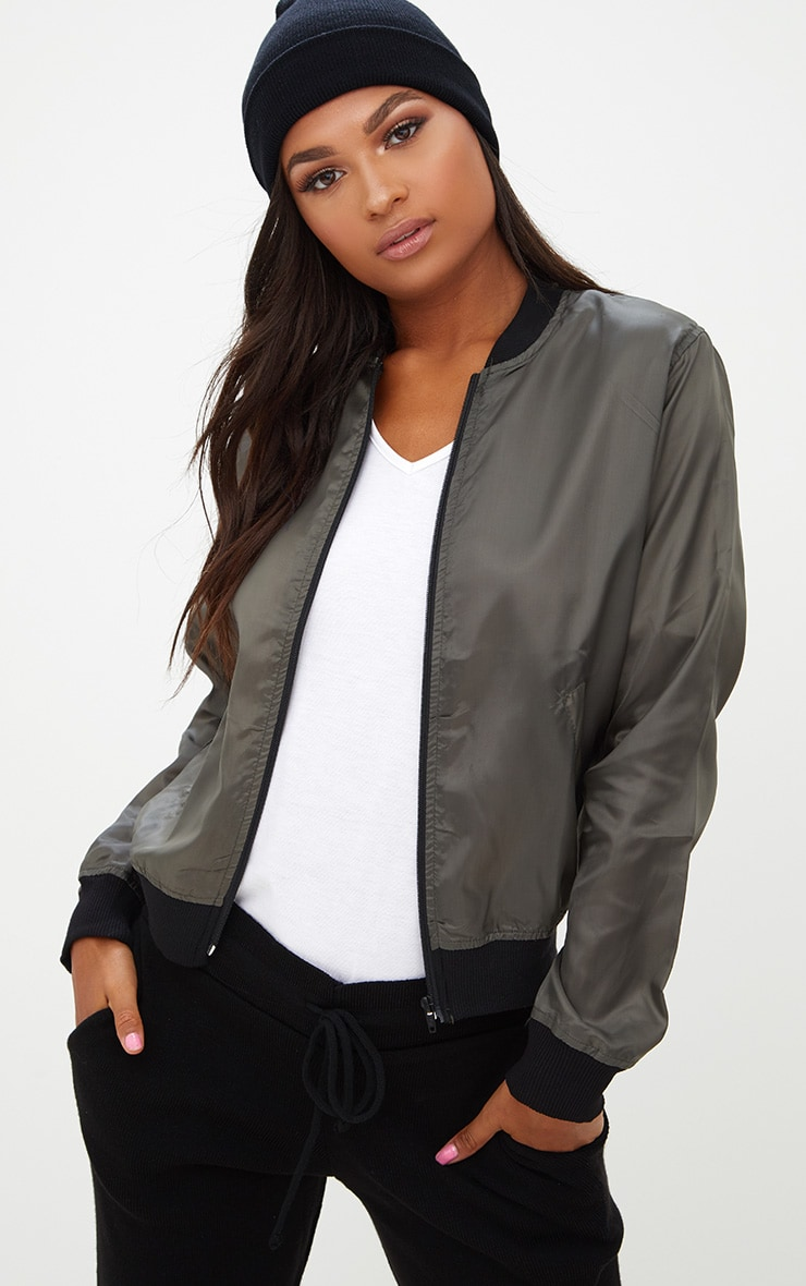 b99080fb5 Khaki Lightweight Bomber Jacket
