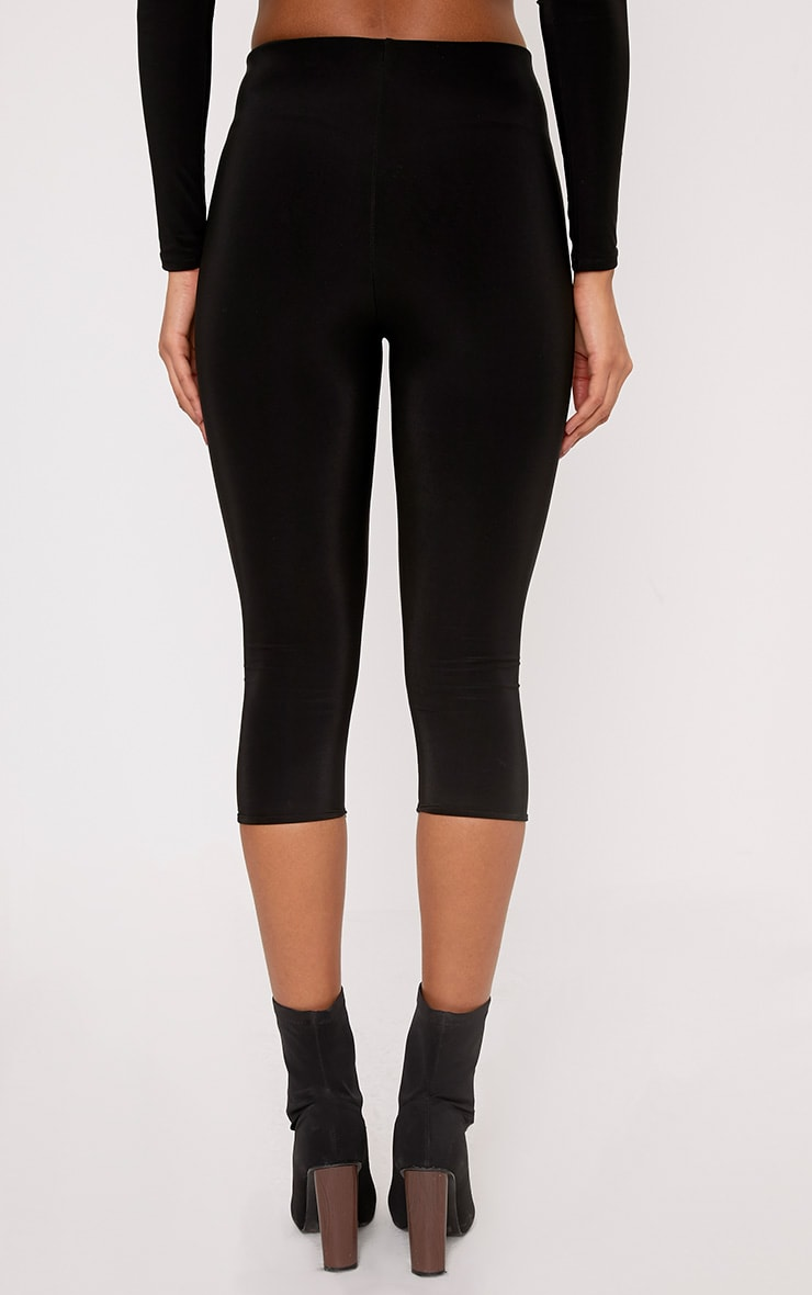 Rio Black Slinky Cropped Leggings 4