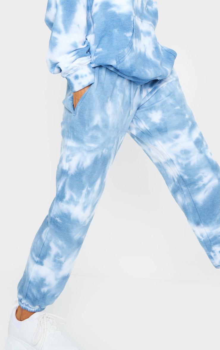 Blue Tie Dye High Waist Joggers 4