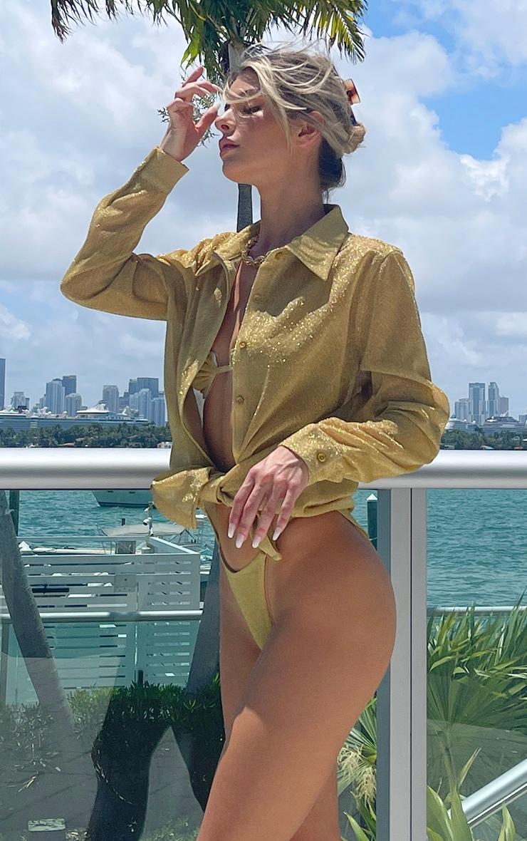 Gold Glitter Beach Shirt 3