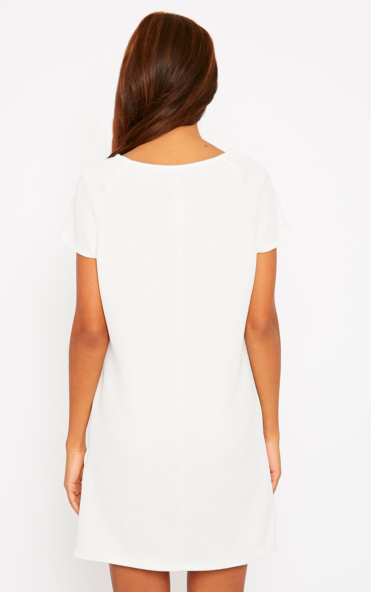 Camila Cream Loose Fit Shift Dress 2