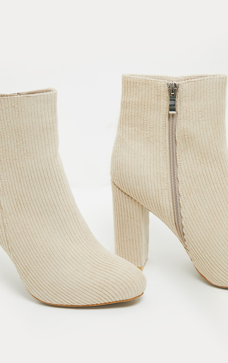 Cream Cord Behati Ankle Boot 4