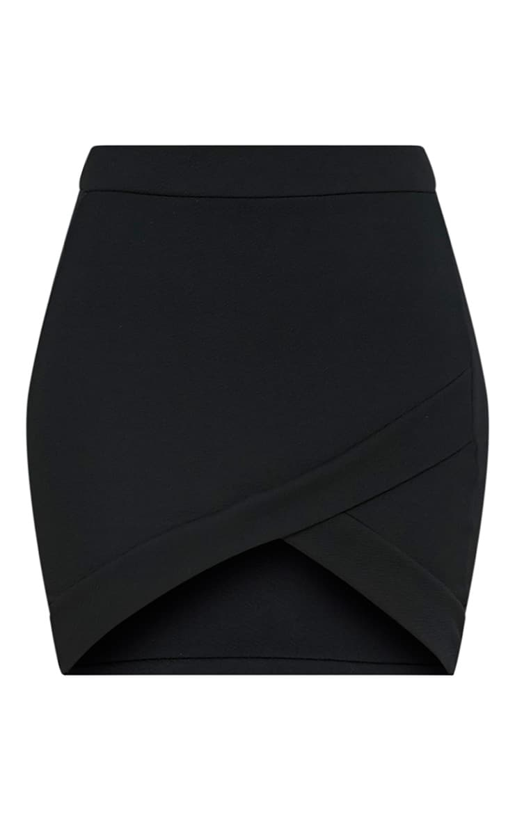 Gabriella Black Asymmetric Mini Skirt 3