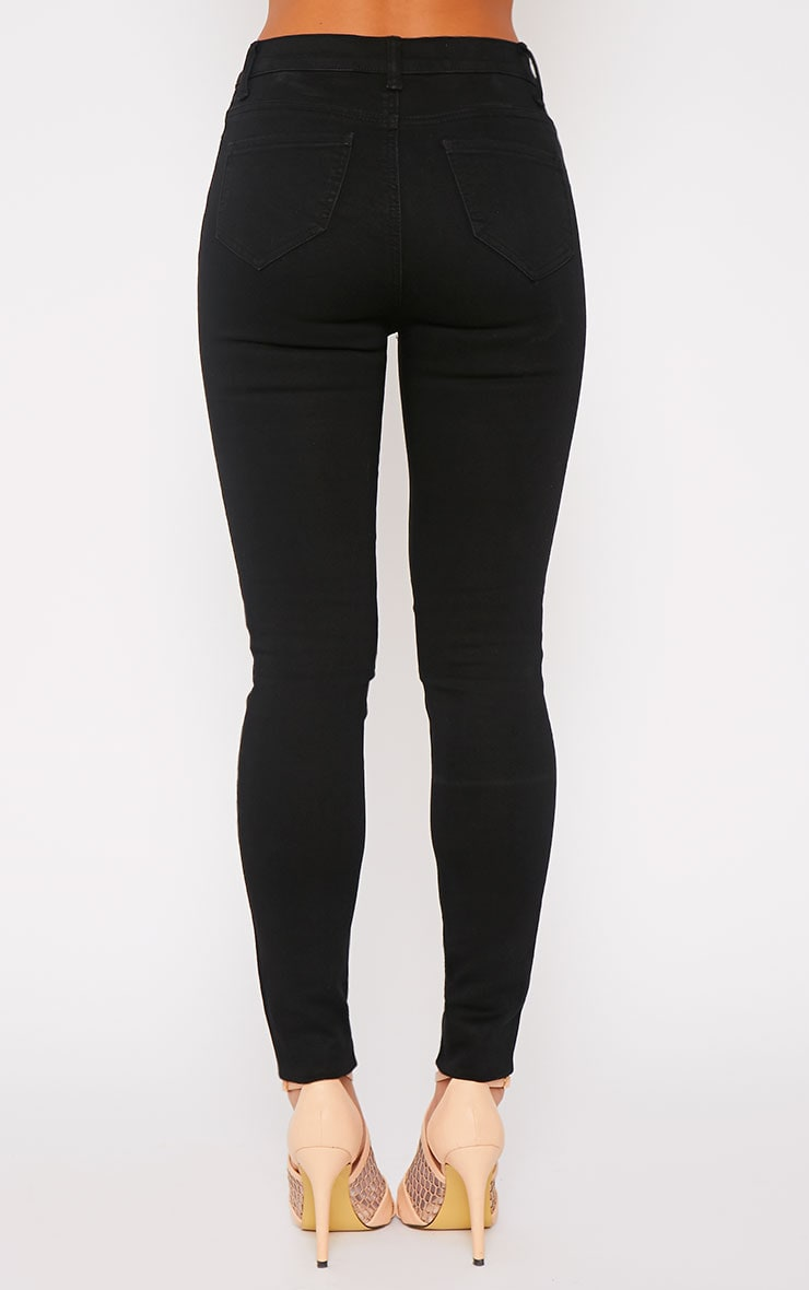 Kate Black Mid Rise Ripped Skinny Jean  2