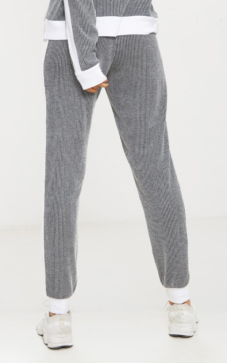 Grey Soft Rib Joggers 3