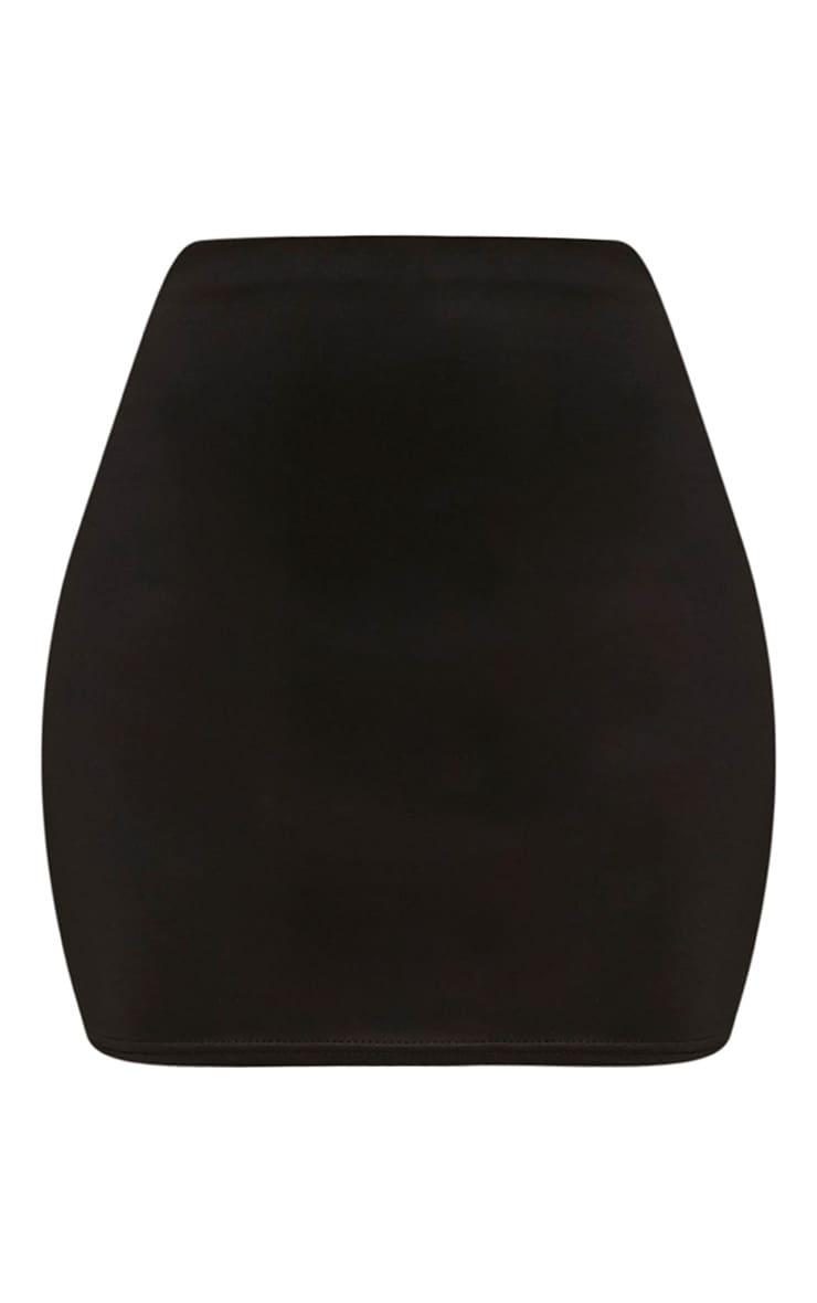 Erasma Black Scuba Mini Skirt 3