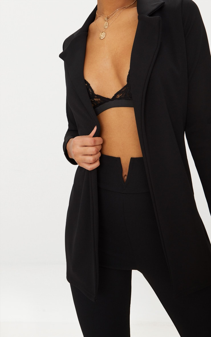 Blazer long noir 5