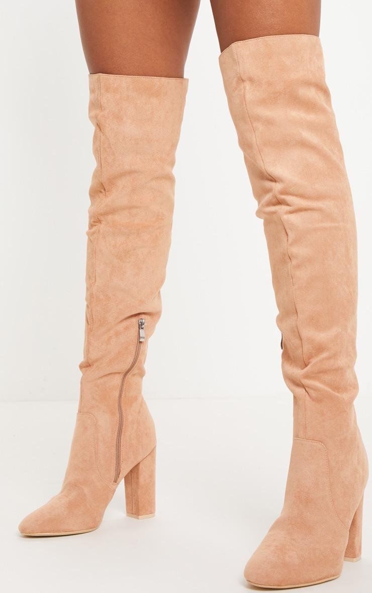 Nude Over The Knee Behati Boot  2