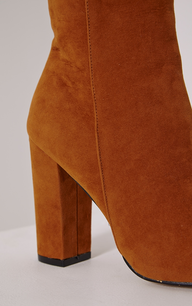 Behati Tan Faux Suede Ankle Boots 4