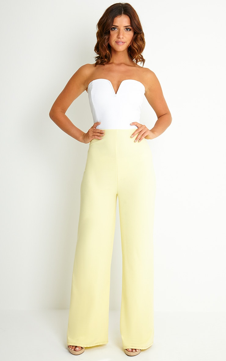 Kendra Two Tone Crepe Jumpsuit 3