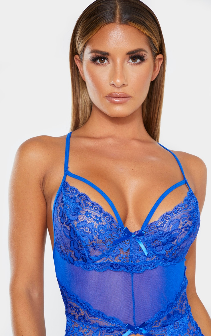 Cobalt Strapping Detail Lace Body 6