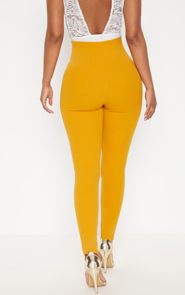 Shape Mustard Military Button Skinny Trousers 4