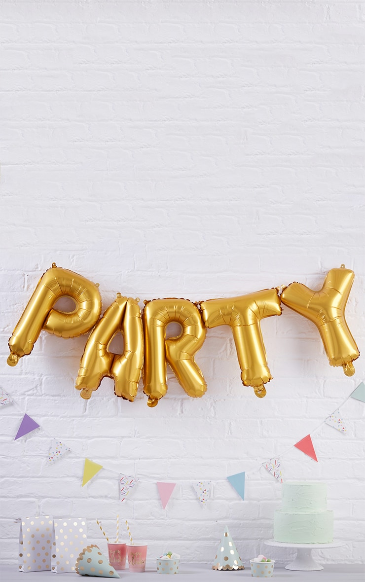 Gold Party Balloon Bunting 1