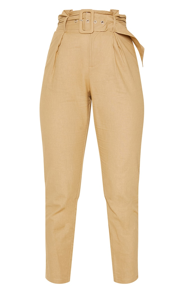 Stone Belted Paperbag Tapered Pants 3