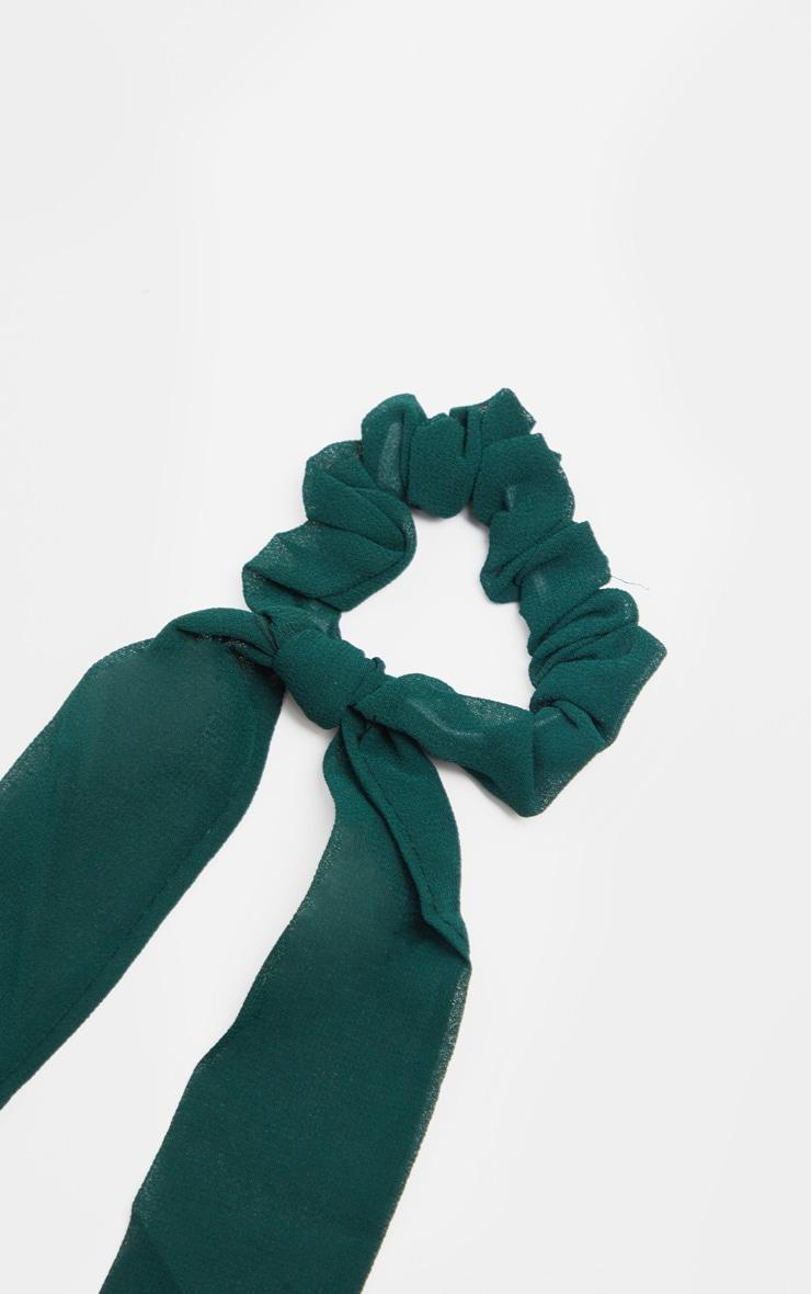 Chouchou bleu sarcelle style foulard 3