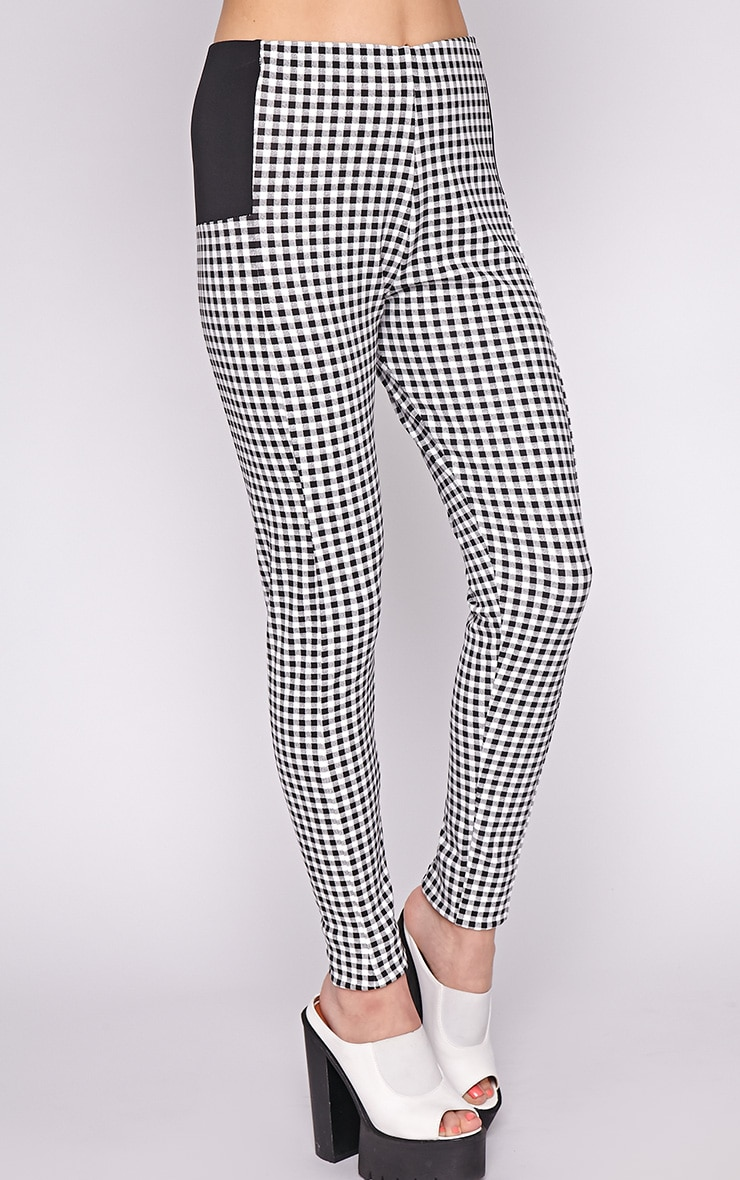 Luana Monochrome Gingham Legging 3