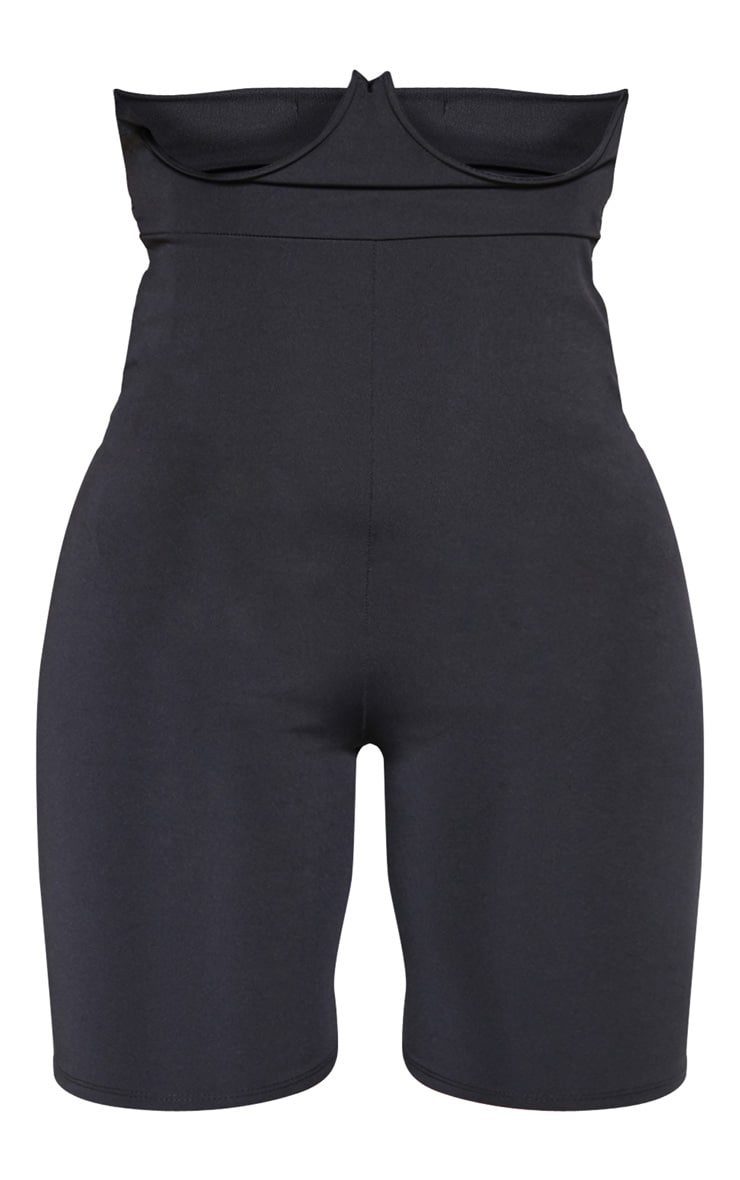 Black High Stretch Bustier Cycle Short  3