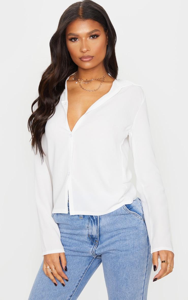 White Chiffon Shirt 1
