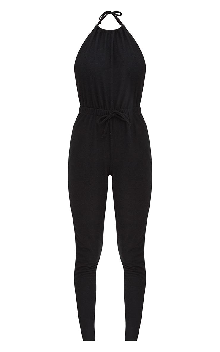 Black Halterneck Casual Jumpsuit 3