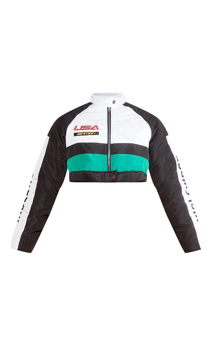 Multi Motocross Panel Cropped Jacket 5