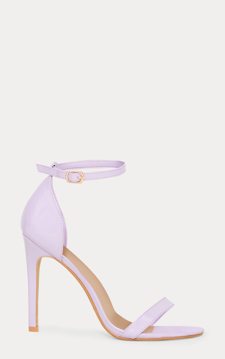 Lilac Heeled Strappy Sandal 3