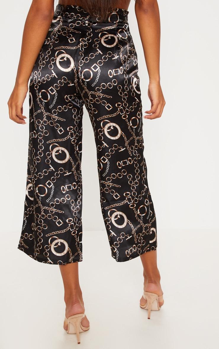 Satin Chain Print Culotte Trouser 4