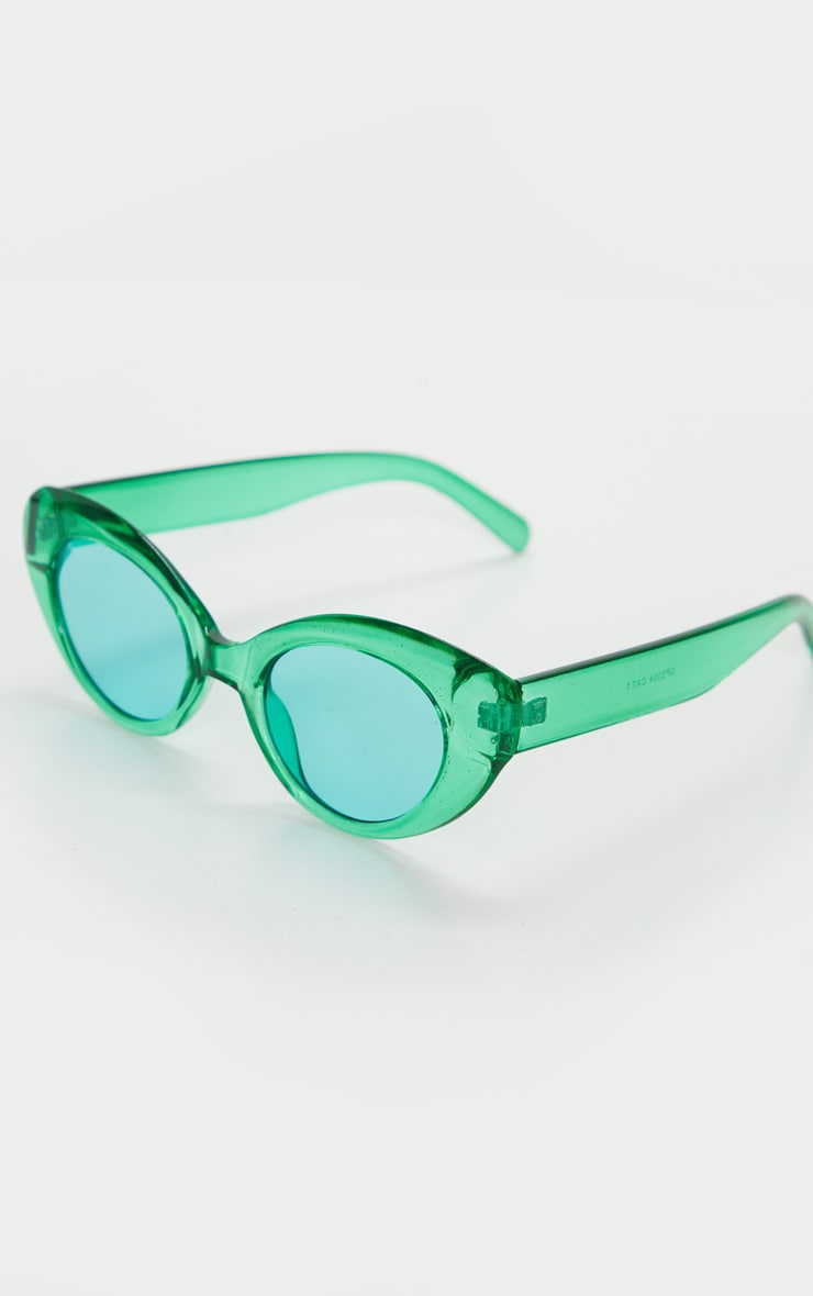 Green Cat Eye Sunglasses 3