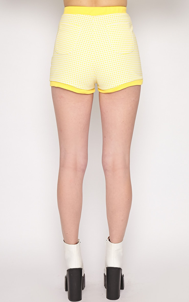 Mabel Yellow Gingham Shorts 2